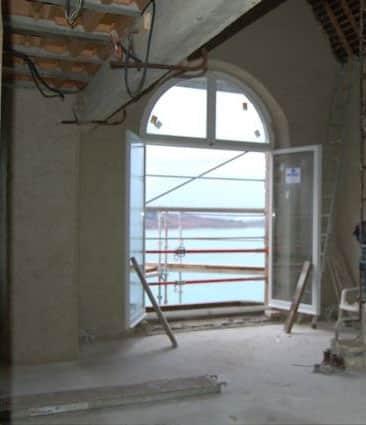 Salon en cours de chantier