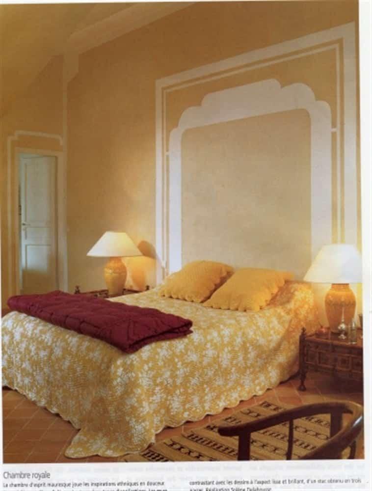 Tête de lit en stuc de Mantoue blanc