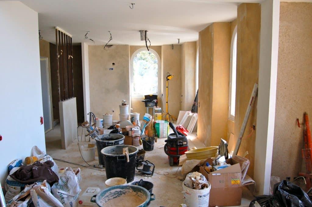 maison tout à la chaux en bretagne avant chantier