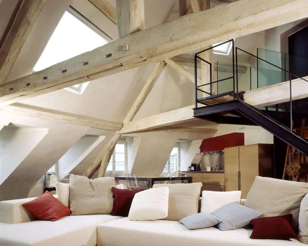 enduit à la chaux taloché, sous les toits de Paris