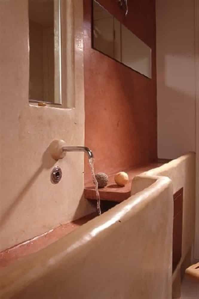 lave main en tadelakt façon lavoir